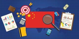 Aumento economico di economia della Cina Fotografia Stock Libera da Diritti