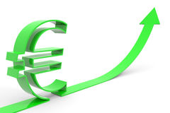 Aumento euro. Imagenes de archivo