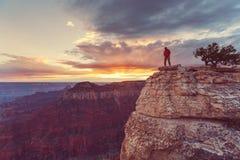 Aumento in grande canyon fotografia stock