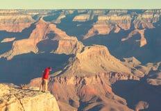 Aumento in grande canyon Immagini Stock