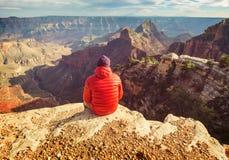 Aumento in grande canyon fotografie stock libere da diritti