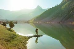 Aumento in montagne di Fann fotografie stock libere da diritti