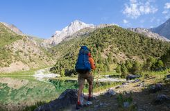 Aumento in montagne di Fann immagini stock libere da diritti