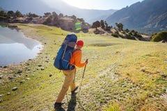 Aumento in montagne di Fann immagine stock