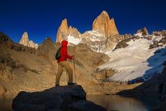 Aumento nella Patagonia immagine stock