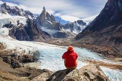 Aumento nella Patagonia fotografie stock