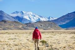 Aumento nella Patagonia fotografia stock libera da diritti