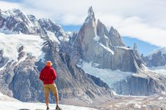 Aumento nella Patagonia immagini stock libere da diritti