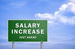 Aumento salarial ilustración del vector