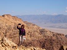 Aumento scenico in montagne di Eilat Immagine Stock