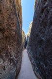 Aumento stretto del canyon della scanalatura Immagine Stock Libera da Diritti