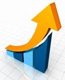 Aumentos del beneficio stock de ilustración
