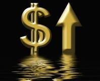 Aumentos do custo Fotos de Stock