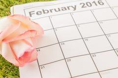 aumentou no calendário Foto de Stock Royalty Free