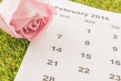 aumentou no calendário Foto de Stock