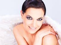 ängel s wings kvinnan Arkivfoto
