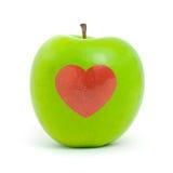äpple - grön hjärtared Fotografering för Bildbyråer