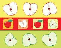 äpplebakgrund Royaltyfri Fotografi