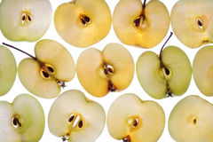 äpplebakgrund Arkivfoto