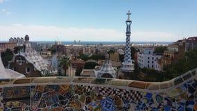 Aune et Barcelone de ¼ du parc GÃ Image libre de droits