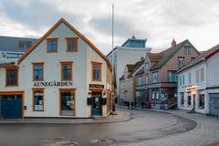 Aunegardenrestaurant Tromso, Noorwegen stock foto