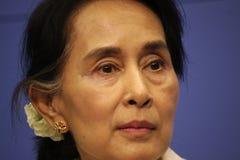 aung kyi San suu Obrazy Royalty Free