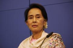Aung San Suu Kyi Photo libre de droits