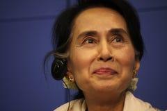 Aung San Suu Kyi Photographie stock libre de droits
