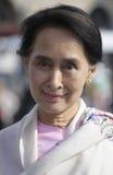 Aung San Suu Kyi Lizenzfreie Stockbilder