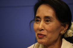 Aung San Suu Kyi Stock Photo