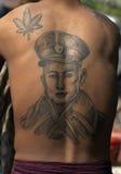Aung San tattoo. Myanmar, tattoo of Aung San Stock Image