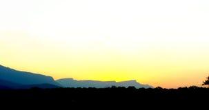 Aunset da paisagem Imagens de Stock