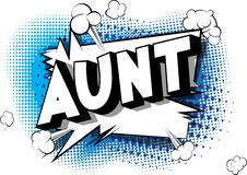 Aunt - Comic book style words.