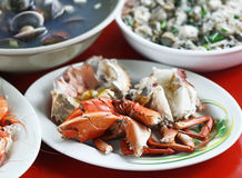 Aunt five live seafood Royalty Free Stock Photo