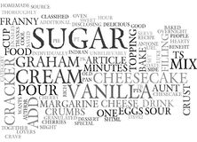 Aunt Franny S Special Cheesecakeword Cloud Royalty Free Stock Image