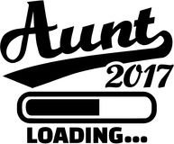 Aunt 2017 - loading bar. Vector Stock Photo