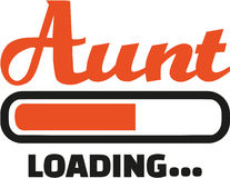 Aunt loading download bar Stock Photography