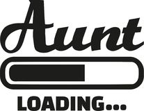 Aunt loading vector vector. Aunt loading simple vector icon Royalty Free Stock Photography