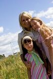 Aunt And Nieces royalty free stock images