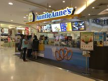 Auntie Anne's - Donuts & Bagelsrestaurant in Thailand Stock Photo