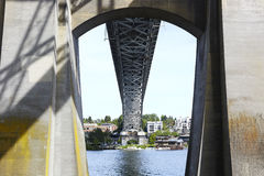 Auora-Brücke - Seattle, Washington Stockfotos