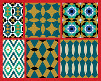 Aup Moorish Patterns Set Royalty Free Stock Images