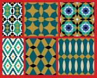 Aup Moorish Patterns Set Royalty Free Stock Images
