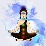Aura and chakra, meditation. Stock Images
