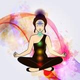 Aura and chakra, meditation. Royalty Free Stock Image