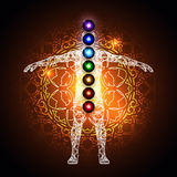 Aura and chakras Royalty Free Stock Photo