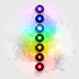 Aura and chakras. Vector illustration concept Aura and chakras vector illustration