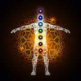 Aura and chakras Stock Photo
