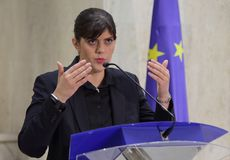 Aura Codruta Kovesi - Roemenië Anti-corruptie stock foto's