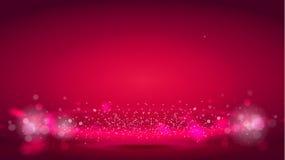 Aura da onda clara ou da luz do fulgor no fundo vermelho do bokeh Elementos decorativos abstratos para usos do projeto Radial bri Imagens de Stock